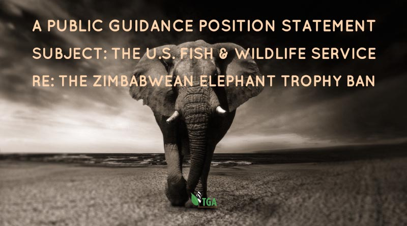 The us fish wildlife service re the zimbabwean elephant tga public position statements sciox Gallery
